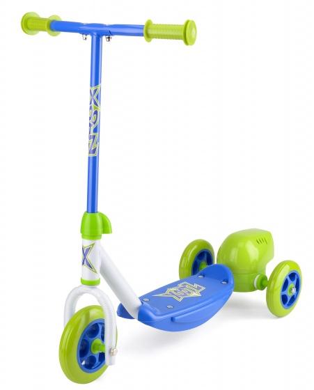 Xootz 3-wiel kinderstep Bubble Scooter Jongens Voetrem Groen/Blauw