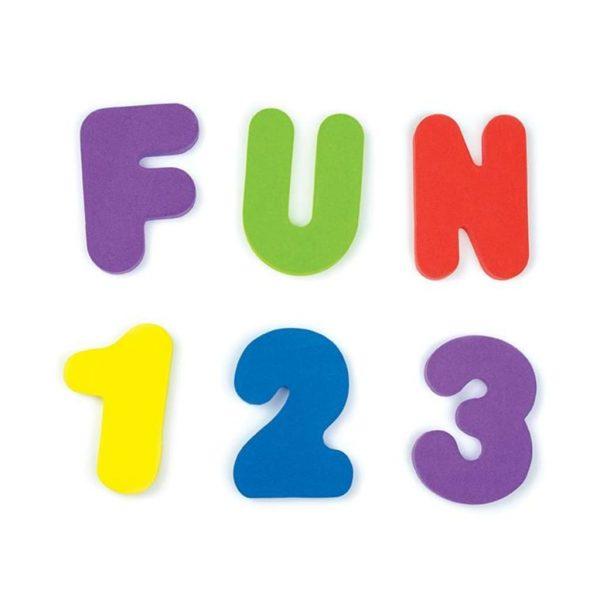 Munchkin 36-delige Badspeelset letters en cijfers meerkleurig