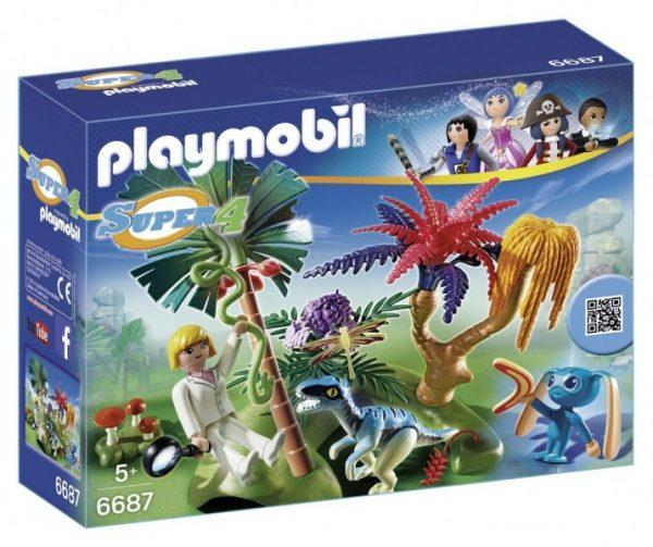 6687 Playmobil Super 4 Lost Island Met Aliën En Raptor