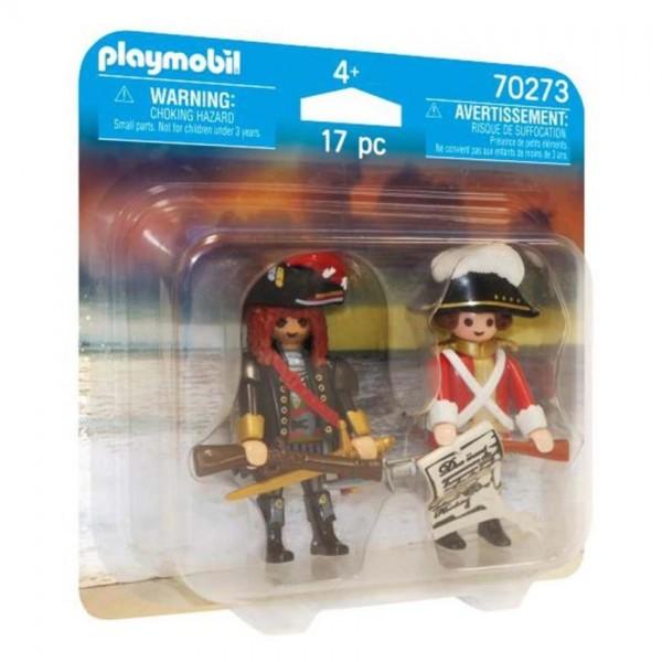 70273 Playmobil Duopack Piratenkapitein en Roodroksoldaat