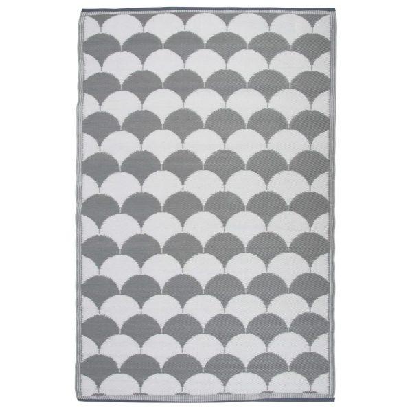 Esschert Design Buitenkleed 180x121 cm grijs en wit OC24