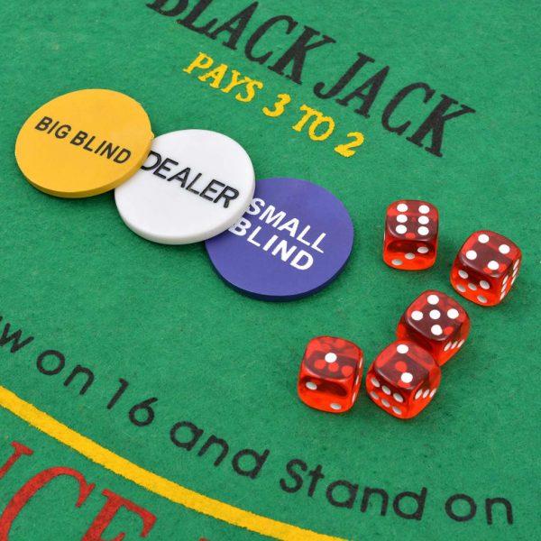 vidaXL Poker/blackjack set met 600 chips aluminium