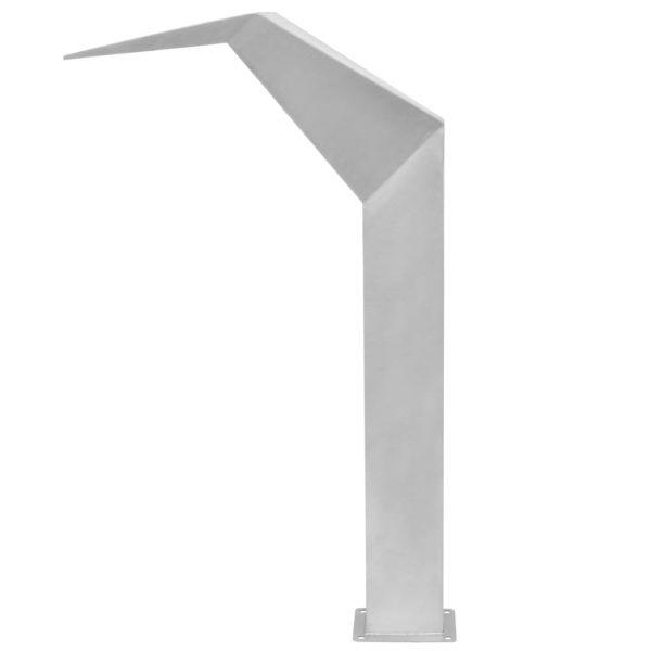 vidaXL Zwembadfontein 50x30x90 cm roestvrij staal zilverkleurig