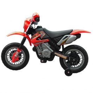 vidaXL Kinder motor Crosser elektrisch 6 volt rood