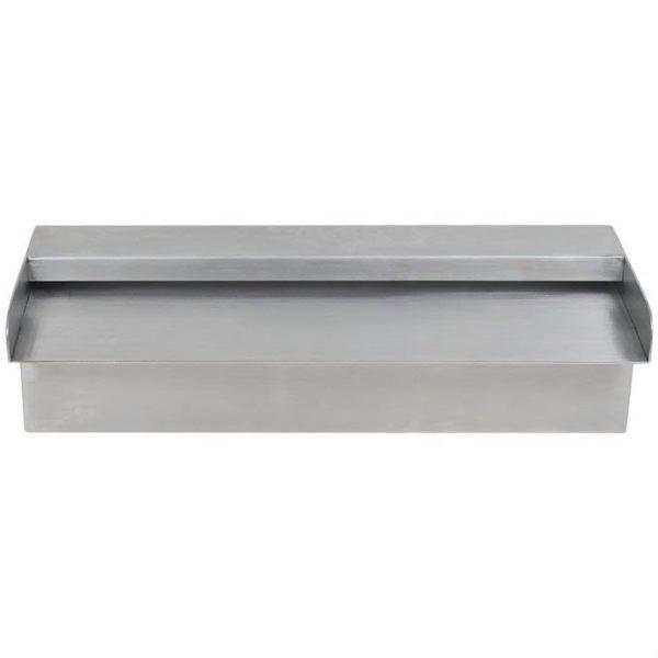 vidaXL Zwembadwaterval rechthoekig 30 cm roestvrij staal