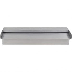 vidaXL Zwembadwaterval rechthoekig 45 cm roestvrij staal