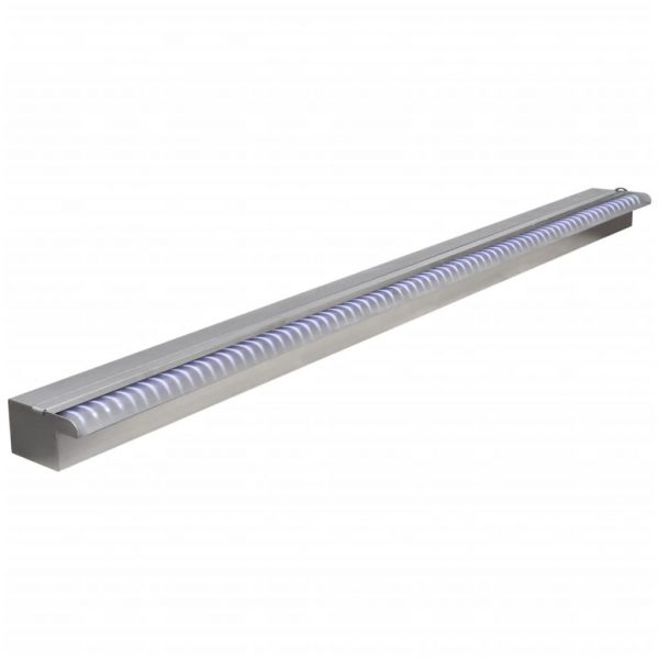 vidaXL Zwembadwaterval met LED's rechthoekig 150 cm roestvrij staal