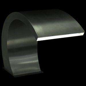 vidaXL Zwembadfontein met LED's 30x60x45 cm roestvrij staal