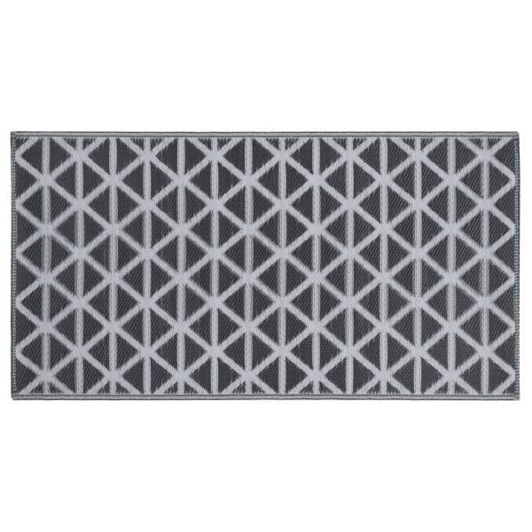 vidaXL Buitenkleed 80x150 cm PP zwart