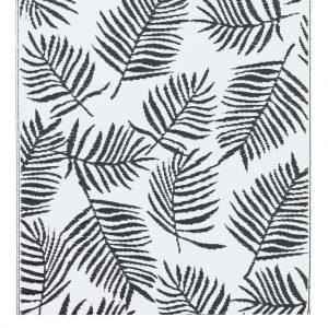 vidaXL Buitenkleed 80x150 cm PP wit en zwart