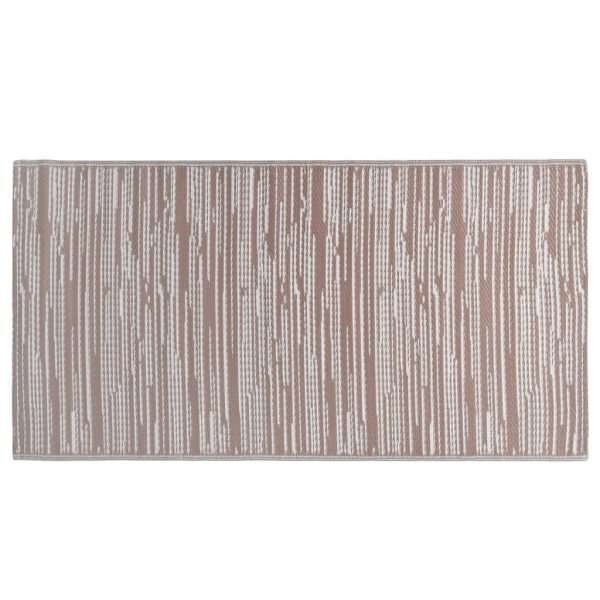vidaXL Buitenkleed 80x150 cm PP bruin