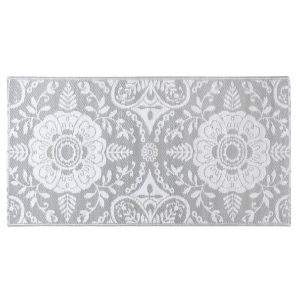 vidaXL Buitenkleed 120x180 cm PP lichtgrijs