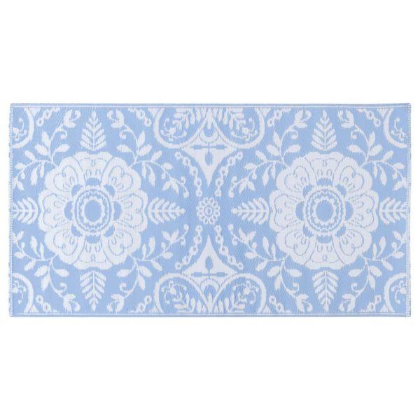 vidaXL Buitenkleed 120x180 cm PP babyblauw