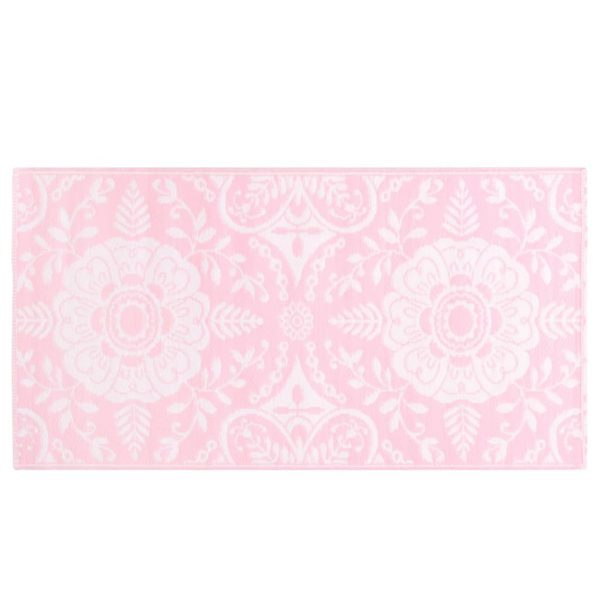vidaXL Buitenkleed 120x180 cm PP roze