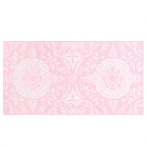 vidaXL Buitenkleed 160x230 cm PP roze