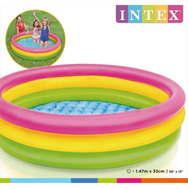Intex Zwembad Sunset opblaasbaar 3 ringen 147x33 cm