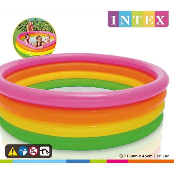 Intex Zwembad Sunset opblaasbaar 4 ringen 168x46 cm