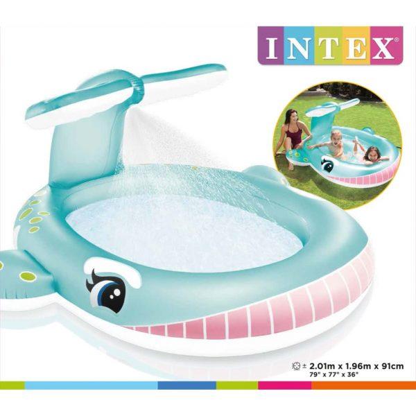 Intex Sproeibad Whale 201x196x91 cm