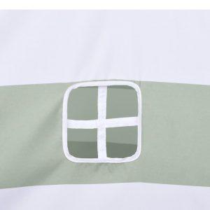 vidaXL Kindertipitent met tas streeppatroon 120x120x150 cm peachskin
