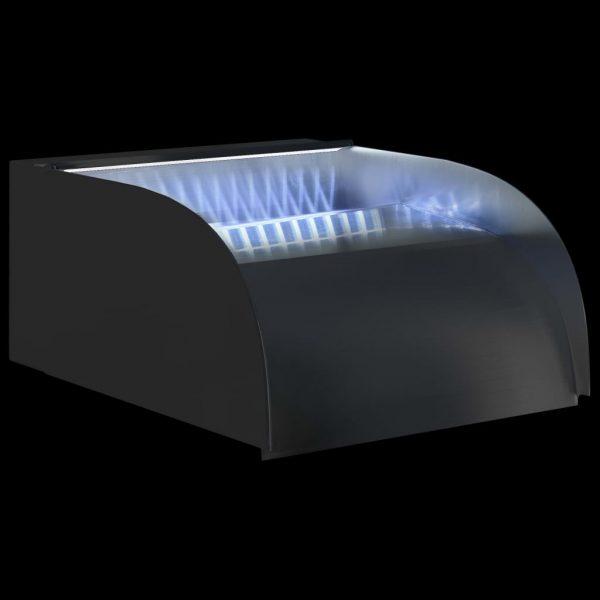 vidaXL Waterval met LED's 30x34x14 cm roestvrij staal 304