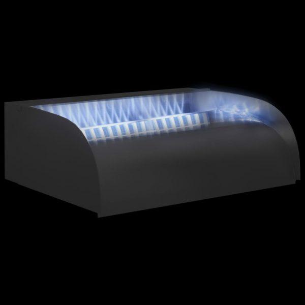 vidaXL Waterval met LED's 45x34x14 cm roestvrij staal 304