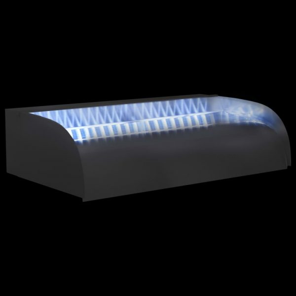 vidaXL Waterval met LED's 60x34x14 cm roestvrij staal 304