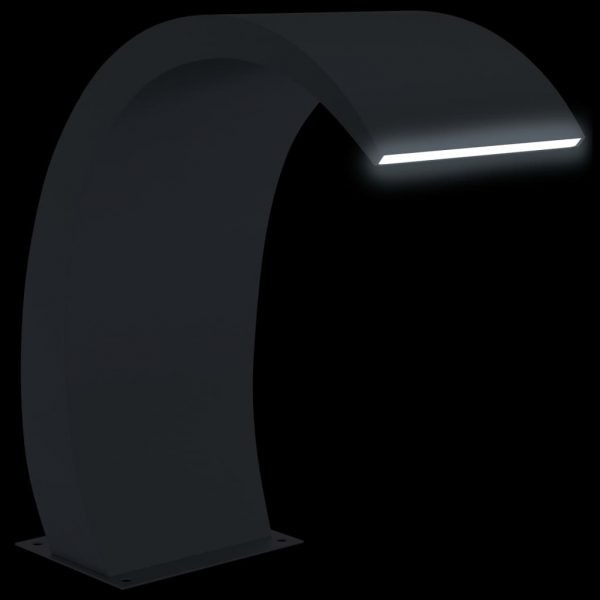 vidaXL Zwembadfontein met LED's 30x60x70 cm roestvrij staal 304