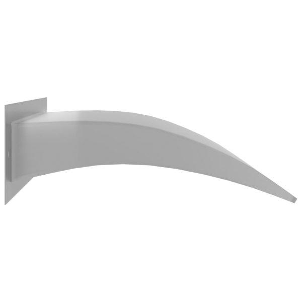 vidaXL Zwembadfontein 45x9x26 cm roestvrij staal zilverkleurig