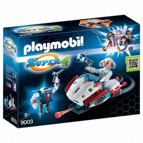 9003 Playmobil Super 4 Skyjet met Dr. X en Robot