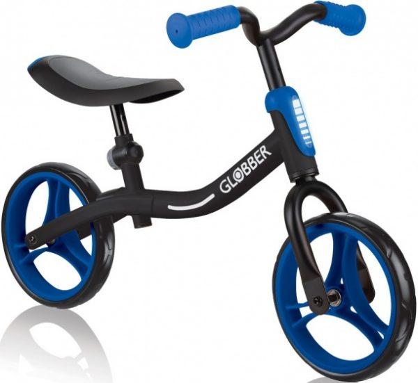 Globber Go Bike loopfiets 10 Inch Junior Zwart/Blauw