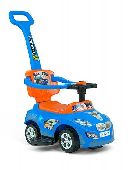 Milly Mally Happy loopwagen politieauto blauw/oranje