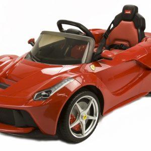 RunRunToys LA Ferrari accuvoertuig 12 Volt R/C rood
