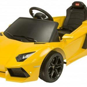 RunRunToys Lamborghini Aventador accuvoertuig 6 Volt R/C geel