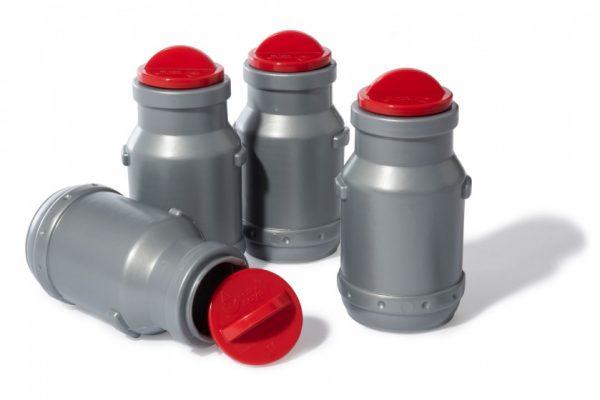 Rolly Toys aanhanger RollyMilk melkkannen 4-delig grijs/rood