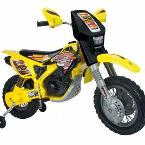 Injusa accuvoertuig motorbike Thunder Max 12V 115 cm geel