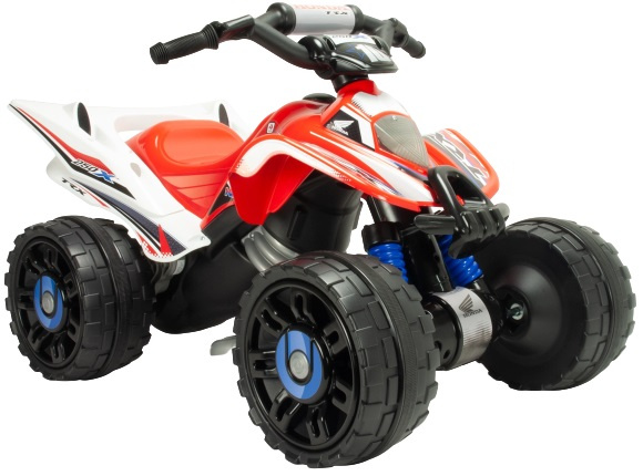 Injusa accuvoertuig quad Honda ATV jongens 12V 92 cm rood/wit