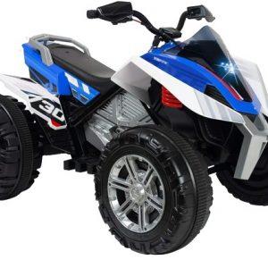 Injusa accuvoertuig quad Rage jongens 12V 118 cm blauw/wit