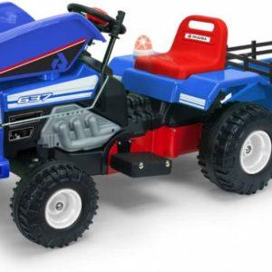 Injusa accuvoertuig tractor Dump Track 6V 145 cm blauw
