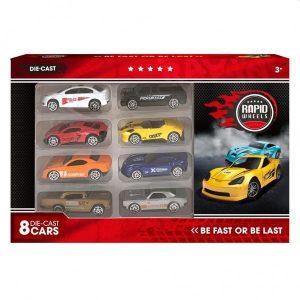 Auto Diecast Set 8 In Doos