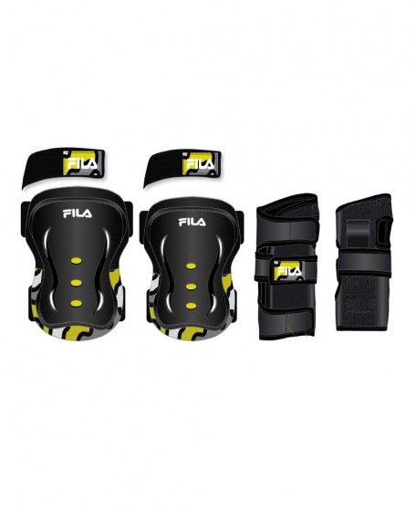 Fila beschermingsset FP skate zwart/geel