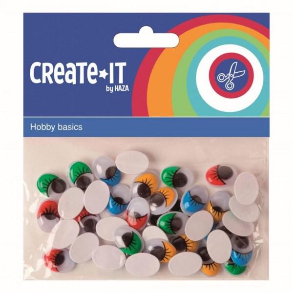 Create-It! Bewegende Ogen Wimpers 40 stuks