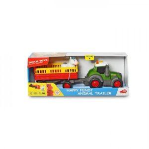 Dickie Tractor Met Aanhanger Licht En Geluid