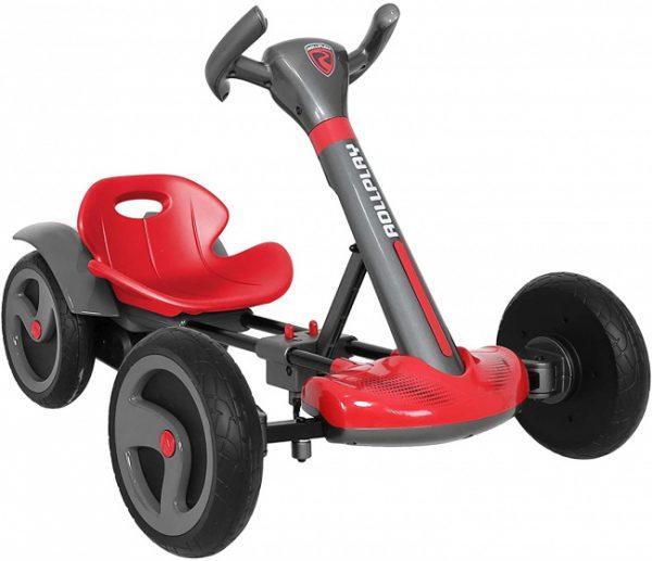 Rollplay elektrische Kart Flex 3 km/u grijs/rood