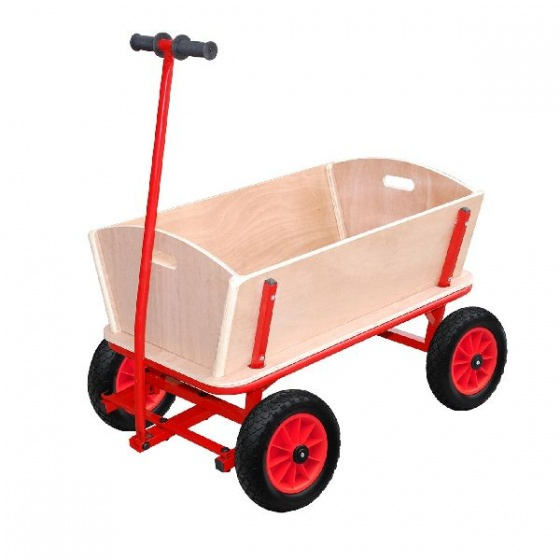 Outdoor houten bolderwagen 85 x 61 x 56 cm naturel