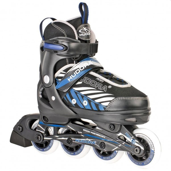 Hudora Inline Skates maat 33-36 zwart/blauw