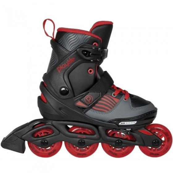 Playlife inline skates Dark Breeze zwart/rood junior