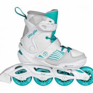 Playlife inline skates Light Breeze wit/turquoise