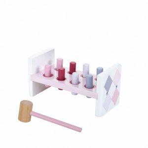 Jipy Hamerbank Hout 8-delig Roze