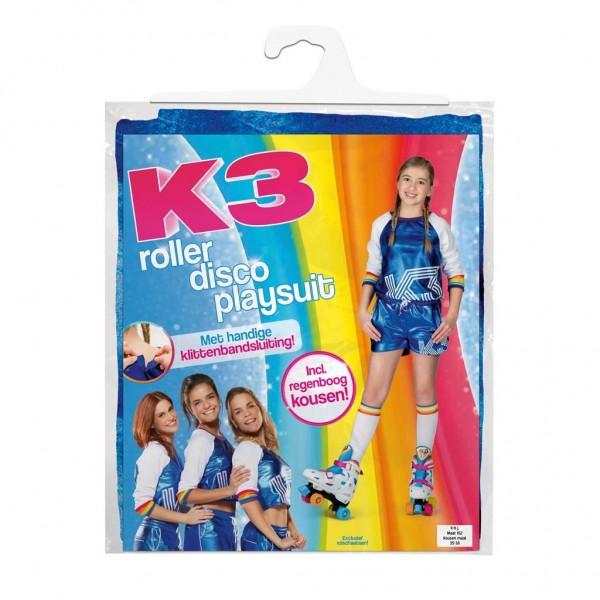 K3 Outfit Roller Disco Met Regenboogsokken 9-12 Jaar