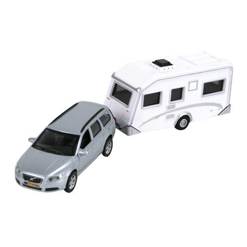 Kids Globe Auto Volvo V70 met caravan